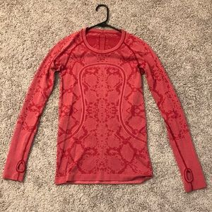 Lululemon red swiftly long sleeve